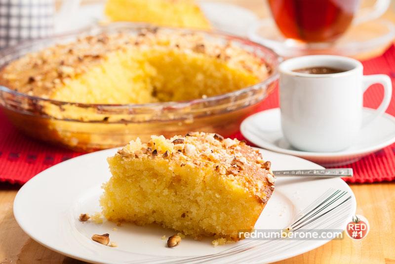 Shamali cake (Semolina Cake, Basbousa)
