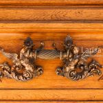Decorative element of the entrance door handle in Romanian Athenaeum (Concert Hall) in Bucharest, Romania