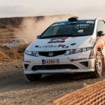 Cyprus rally 2015. Driver Stavros ACHILLEOS, co-driver Andreas CHRYSOSTOMOU. STAVROS ACHILLEOS TEAM. Final stage. Tseri, Nicosia. Cyprus, 27 september 2015.