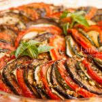 Ratatouille - traditional French Provencal vegetable dish cooked in oven closeup.